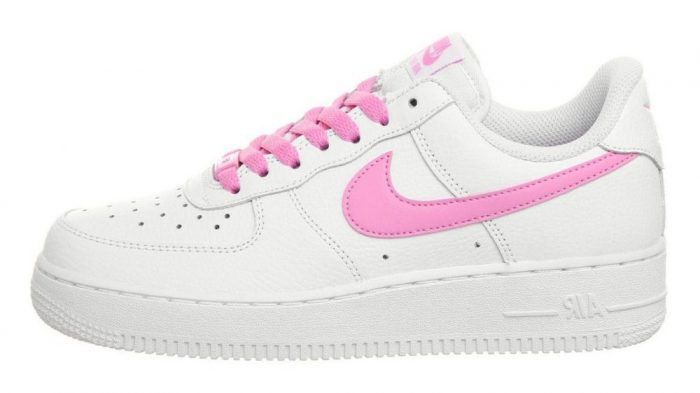 NIKE AIR FORCE 1 07 WHITE AND PINK